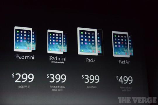 Вся линейка доступных планшетов от Apple