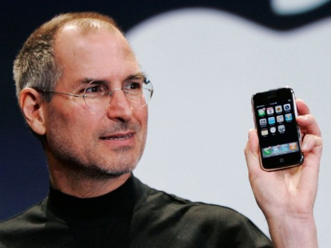 Steve with iPhone
