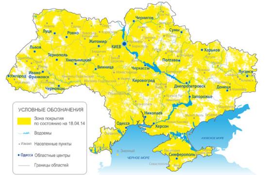 """Карта покрытия """"Интертелеком"""""""