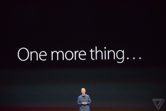 Tim Cook's One more thing...